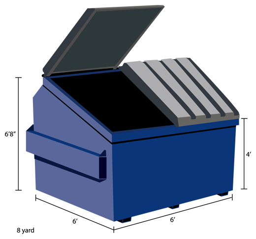 Commercial Trash Bin Sizes : Dumpster types sizes commercial residential roll off
