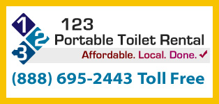 Call 123 Portable Toilet Rental at (888) 695-2443