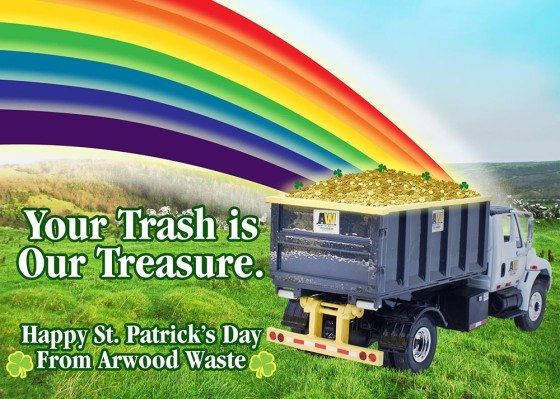 St Patrick's Day - Arwood Waste - (888) 413-5105 Toll Free - Dumpster, Residential Roll Off Dumpster, Front Load Equipment, Commercial Dumpster, Construction Dumpsters and Demolition - Free Quote