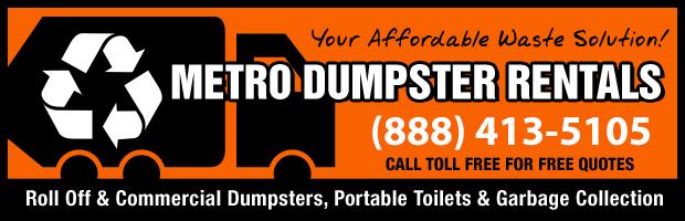 Dumpster Rentals 800-838-6240