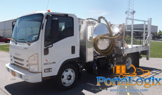 PortaLogix Portable Toilet & Hand Wash Delivery Trucks - Recommended by Arwood Waste