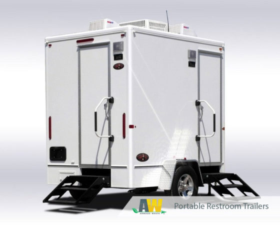 Portable Restroom Trailers Product Guide | Portable Restroom Trailers from Arwood Waste