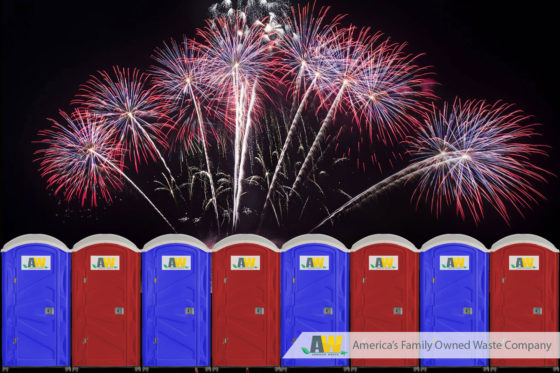Portable Toilet Rentals for Firework Vendors and Seasonal Sale Locations | Arwood Waste Portable Toilets