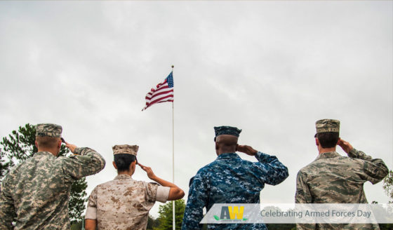Arwood Waste Salutes American Servicemembers on Armed Forces Day - (888) 413-5105 - Dumpsters, Portable Toilets, Residential Roll Off Dumpsters, Junk Removal and Demolition