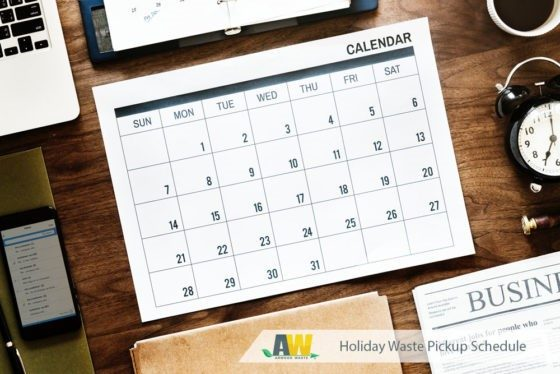 Holiday Waste Pickup Schedule | Arwood Waste