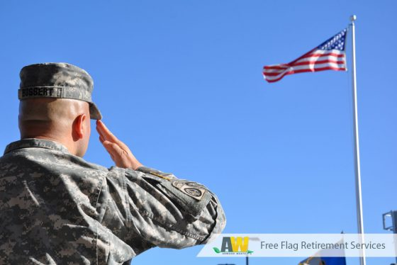 Free Flag Retirement Service from Arwood Waste