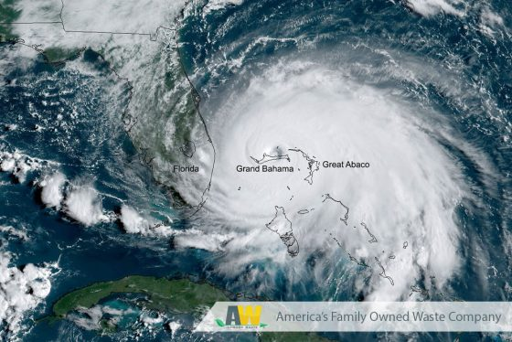 Hurricane Dorian Preparations and Safety from Arwood Waste